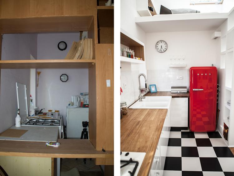 Galeria zdjęć  TOP 10 małych mieszkań  zdjęcie nr 8   -> Kuchnia Retro Kolory